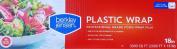 Berkley Jensen Professional Plastic Wrap with Cutter Slide 910m X 46cm Food Service Film