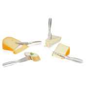 Boska Holland Stainless Steel Mini Cheese Knives, 4 Piece Gift Set, 10 Year Guarantee, Monaco Collection