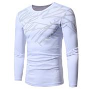 Ninasill Mens Autumn And Winter Top Fashion Printing Long-sleeved T-shirt Blouse
