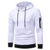 Ninasill Mens Autumn And Winter Long Sleeve Plaid Hoodie Hooded Sweatshirt Tops Jacket Coat Outwear
