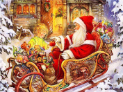 """FKUO 5D DIY Diamond Painting """"Santa Claus and children"""" Embroidery 2.8mm Round Diamond embroidery Fashion home decor"""