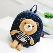 Sealive Kids Animal Backpack,Anti-lost Backpack for Baby Toddler Kids,Cute Zoo Cartoon Preschool Child Sidesick Bags Safety Harness School Bag with Removable Bear Doll,23cm x 9cm x 7.220cm - Blue