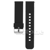 SCASTOE 22mm Release Silicone Watchband Watch Band Strap for Smart Watch Motorola MOTO 360 -Black