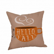 "FreshZone Vintage Square Home Decorative Throw Pillow Case Cushion Cover 46cm X18"""