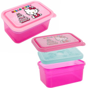 Zak! (2 Pack) Hello Kitty 380ml Plastic Kids Food Storage Containers With Freezer Packs