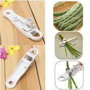 Bean Slicer,Hongxin French Style Green Bean Vegetable Runner Slicer Cutter Stringer Remover Peeler
