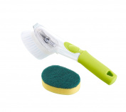 Grips Soap Dispensing Dish Sink Brush Scrubber With Dish Scrub Refill Sponge