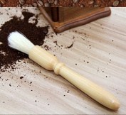 GINOVO Coffee Grinder Brush - 19cm Wood Handle, Coffee Cleaning Brush, Espresso Brush