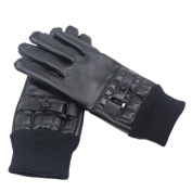 Aurorax Sensitive Touch Screen Gloves for Men,Winter Warm Windproof Waterproof Leather Driving Soft Lining Gloves Mitten