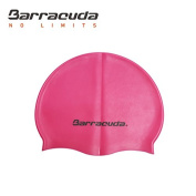Barracuda Accessories FLAT SILICONE CAP (Standard Logo) - Waterproof Durable Silicone, Solid Colour, Comfortable Lightweight Professional for Adults Men Women Teens