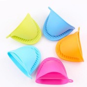 RoseSummer Silicone Non-slip Gloves Oven Heat Insulated Finger Gloves Cooking Microwave Gripper Pot Holder
