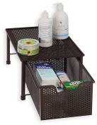 SimpleHouseware Stackable Cabinet Basket Drawer Organiser, Bronze