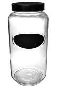 Large 3490ml/3.1L Glass Chalkboard Biscotti Cookie Storage Jar Canister Display