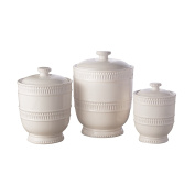 American Atelier 1562237CANRB Bianca Ridge Canister Set, White