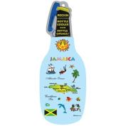 Jamaica Map Neoprene Beer Bottle Cooler Sleeve with Zipper Bottle Opener
