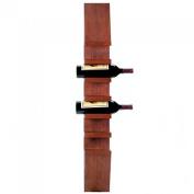 wallmounted vertical wood wine rack