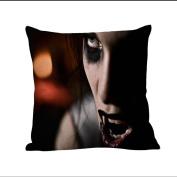 Pillow Case, NXDA Halloween Cotton Linen Throw Pillows Cover Decorative ,46cm x 46cm