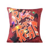 Pillow Case, NXDA Halloween Lighting LED Cotton Linen Throw Pillows Cover Decorative ,46cm x 46cm