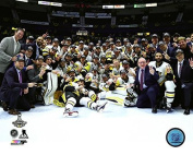 Pittsburgh Penguins 2017 Stanley Cup Champions Team Celebration Photo (Size