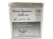 Dream Signature Collection Organic Smooth Cotton Mattress Protector, Queen