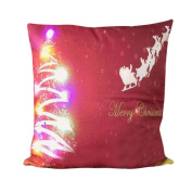Pillow case Christmas,Todaies Christmas Lighting LED Pillow case Letter Printing Cushion Cover Home Decor 4545cm