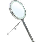 BR Countertop LED Round 5X - 1X Double Sided Cosmetic Makeup Magnifying Mirror