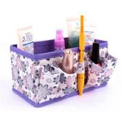 Tharv Makeup Bag Brush Lipstick Pen Holder Toiletry Wash Organiser Cosmetic Bag Foldable Stationary Container  18 x 10.6 x 10 cm