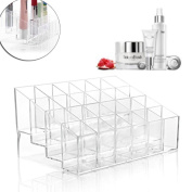 Clear Acrylic 24 Lipstick Holder Display Cosmetic Organiser Makeup Case Storage