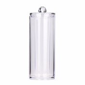 Acrylic Cotton Swab Organiser Box Portable Round Container Storage Case Make up