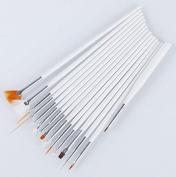 WEIYI 15 PCS Multi-function Nail Art Design Painting Pens for Nail Basic Tools