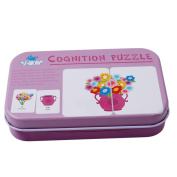UNKE Baby Tattoo Early Childhood Education Literacy Cognitive Ccard Tin Puzzle,1#
