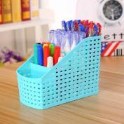 Hollow 4 Grids Desk Storage Box Office Organiser Case Basket Cosmetic Holder