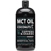 Radha MCT Oil made only from Organic & Sustainable Coconuts - 950ml BPA free bottle. Non-GMO and Gluten Free