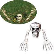 Coerni Premium 3 Pcs Halloween Decor Horror Buried Skeleton for Garden Yard Lawn