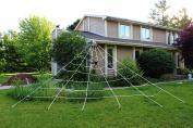 Spooktacular Creations 7m X 5.5m Triangular Mega Spider Web for Outdoor Halloween Decoration