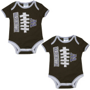 (Pack of 2) WASHINGTON HUSKIES - Infant Football One-Piece Romper