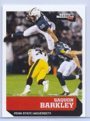 """SAQUON BARKLEY 5120cm 1ST EVER PRINTED"""" SPORTS ILLUSTRATED COLLEGE ROOKIE CARD! PENN STATE NITTANY LIONS!"""