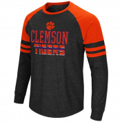 Clemson University Tigers Long Sleeve Shirt Hybrid Raglan Tee