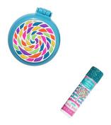 3C4G Lollipop Folding Brush and Mirror Set with Bonus Lip Balm