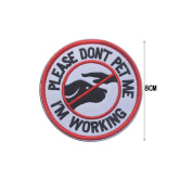 Please Don't Pet Me/I'm Working Service Dog Patch