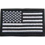 Survival Knight American Flag Patch Black and White Hook and loop Tactical USA Military Bug Out Bag Hat Backpack