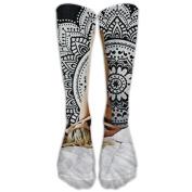 Ombre Mandala Knee High Graduated Compression Socks For Women And Men - Best Medical, Nursing, Travel & Flight Socks - Running & Fitness