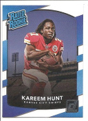 Kareem Hunt Kansas City Chiefs 2017 Donruss Rated Rookie Football Card #332