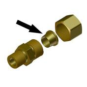 Ferrule for 0.8cm Compression Fitting
