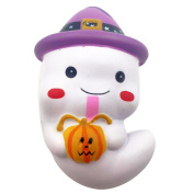 Lookatool 12cm Squishy Cute Ghost Squeeze Slow Rising Fun Toy Halloween Gift Phone Strap