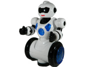 The New Generation Dancing Robot Toys for Kids – Battery Operated Bump and Go Police Toy / Cop Toy Figure –Walking Robot with Flashing Lights, Transformer Script and Electronic Sounds