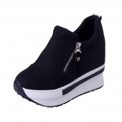 AutumnFall Women's Girls' Round Head Thick Bottom Platform Shoes An-slip Fashion Casual Shoes