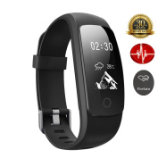 Smart Bracelet Sports Watch Activity Tracker Heart Rate Monitor Fitness Health Wristband Bluetooth Pedometer Calorie Counter Fitness Tracker for Android iOS Smartphones