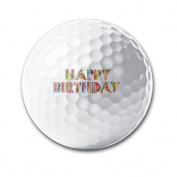 Happy Birthday Practise Soft Feel Reduces Drag Men Women Kids Golf Balls Training Ball For Club Gifts