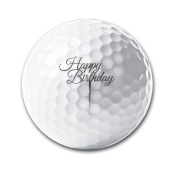 Happy Birthday Fun Super Soft Long-lasting Durability Men Women Kids Golf Ball Training Ball For Club Gifts